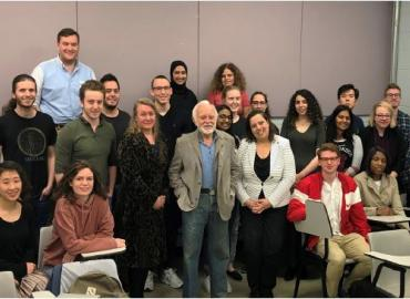 Joseph Lebovic with a group of UofT undergraduate students